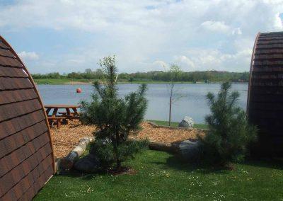 Camping Pods Lake View at Dacre Lakeside Park, Brandesburton