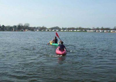 Canoeing at Dacre Lakeside Park, Brandesburton