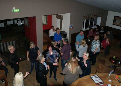 Dancing in the clubhouse at Dacre Lakeside Park, Brandesburton