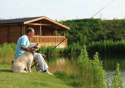 Fishing at Dacre Lakeside Park, Brandesburton