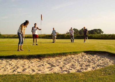 Golfing at Dacre Lakeside Park, Brandesburton