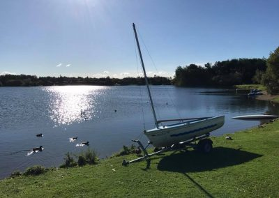Sailboat at Dacre Park, Brandesburton