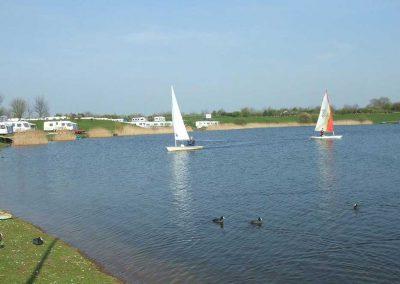 Sailing at Dacre Lakeside Park, Brandesburton