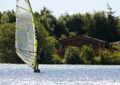 Windsurfing at Dacre Lakeside Park, Brandesburton