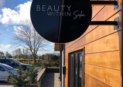 Beauty Within Salon, Brandesburton signage