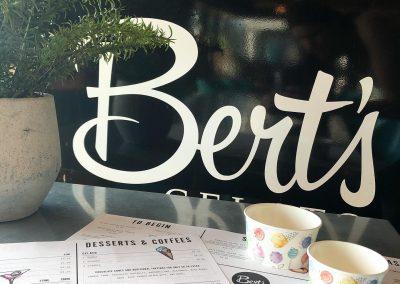 Menus at Berts, Dacre Park, Brandesburton