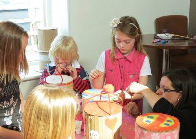 Children's craft activites at Dacre Park clubhouse