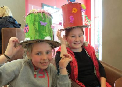 Crafty hats at Dacre Park clubhouse