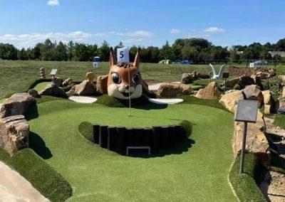 Dacre Park crazy golf squirrel