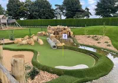 Dacre Park crazy golf water feature