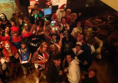 Fancy dress party at Dacre Park clubhouse