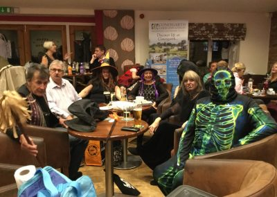 Halloween party at Dacre Park clubhouse