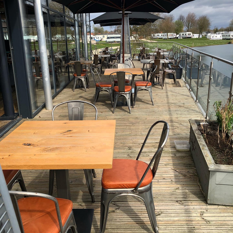 Lake view dining at Berts, Dacre Park, Brandesburton