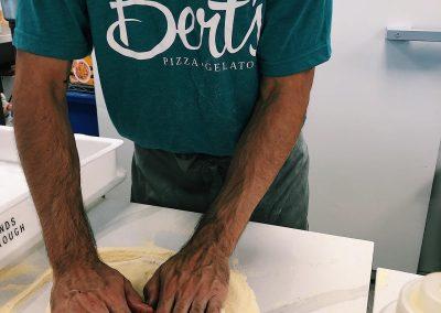 Making pizza at Berts, Dacre Park, Brandesburton