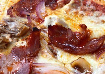 Meat pizza at Berts, Dacre Park, Brandesburton